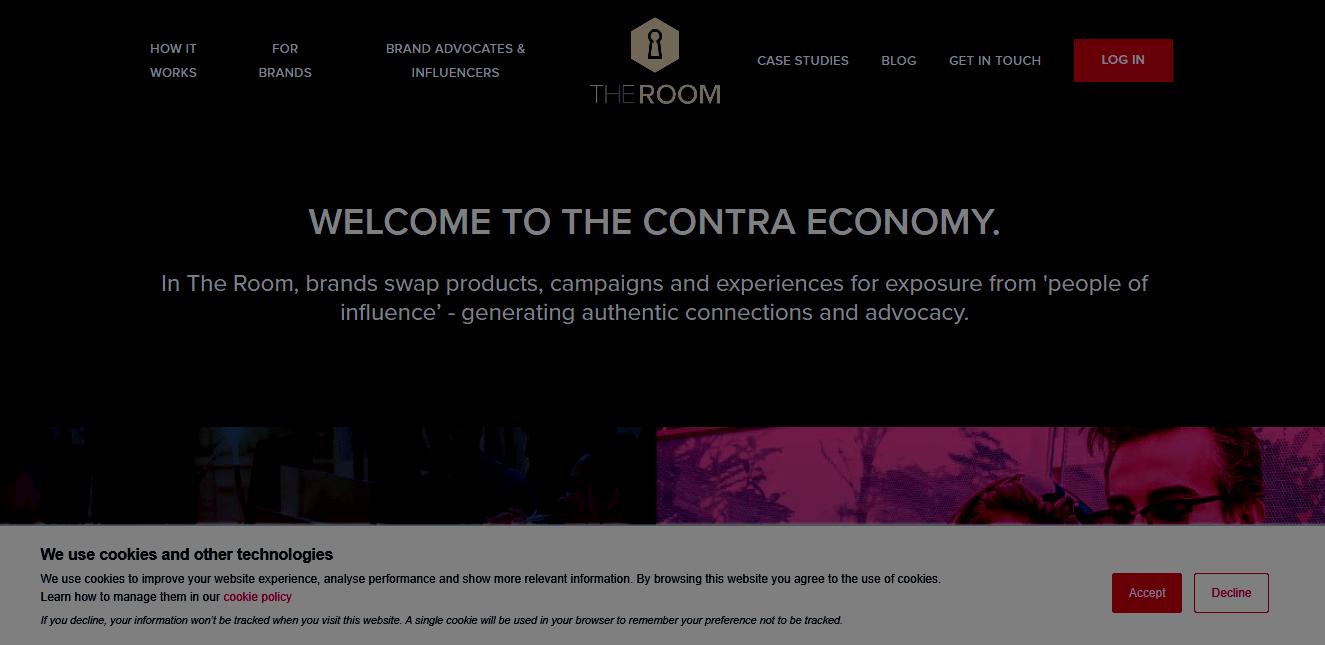 The Room influencer marketing platform