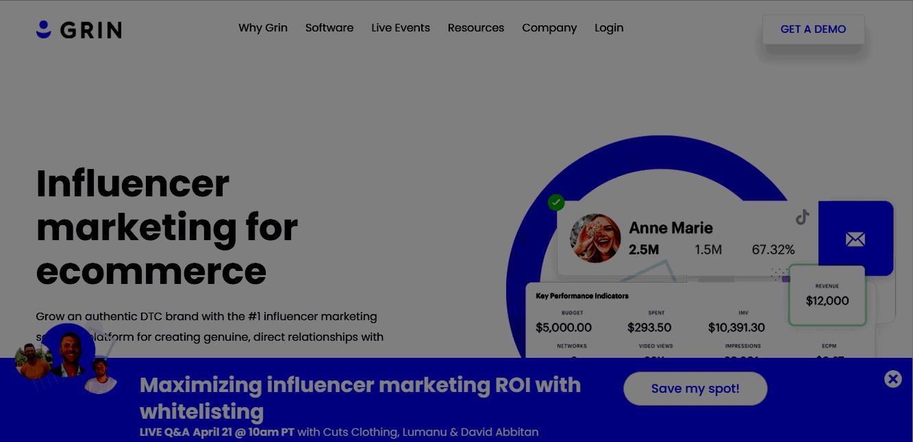Grin influencer marketing platform