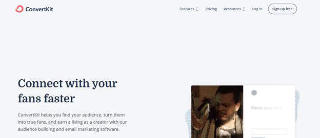 ConvertKit email marketing platform