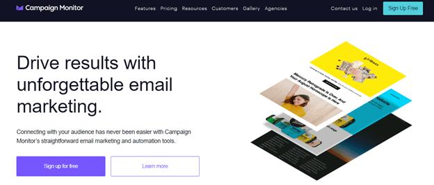 Campaign Monitor: mailchimp alternatives