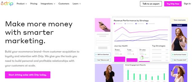 Drip email marketing platform