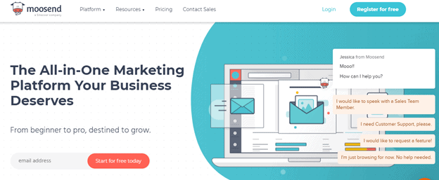 Best email marketing tools: Moosend