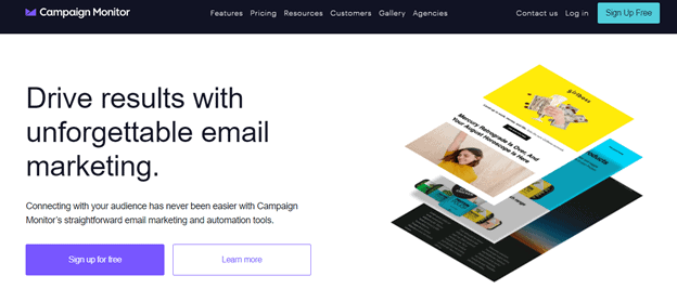 Campaign Monitor for email marketing
