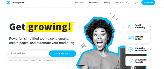Best email marketing tools: Getresponse
