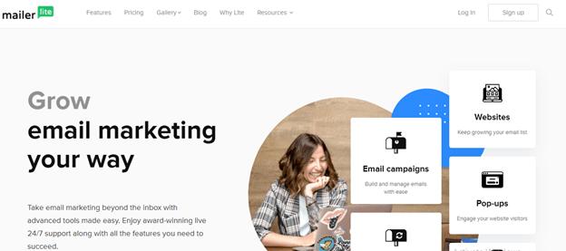 MailerLite email marketing platform